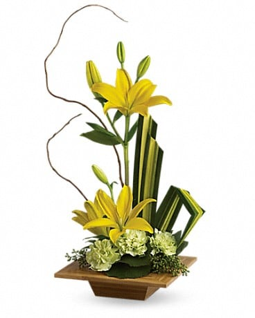 Teleflora's Bamboo Artistry Flower Arrangement