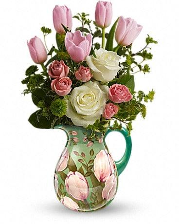 Teleflora's Spring Pitcher Bouquet Bouquet