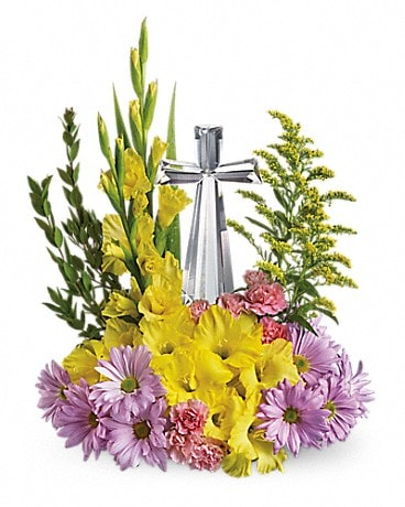 Crystal Cross Bouquet Flower Arrangement