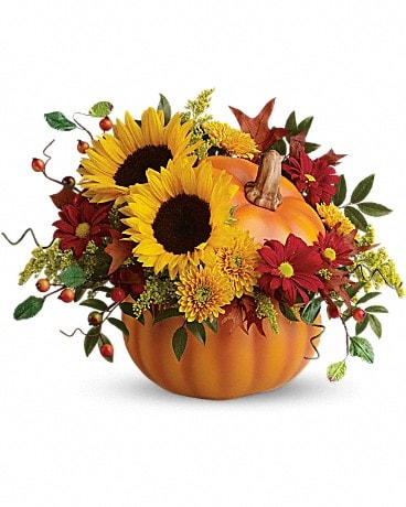 Teleflora's Pretty Pumpkin Bouquet Flower Arrangement