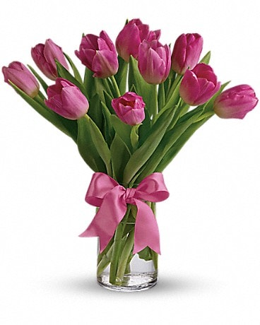 Precious Pink Tulips Bouquet