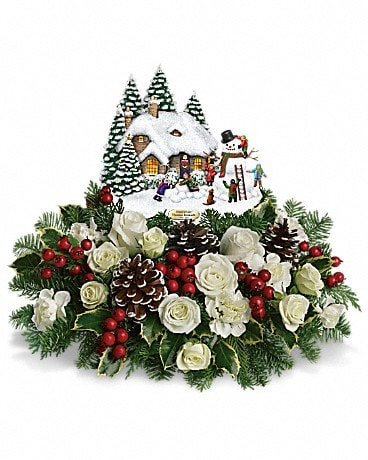 Thomas Kinkade's Snow Time by Teleflora Flower Arrangement