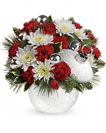 Teleflora's Snowball Surprise Bouquet Flower Arrangement