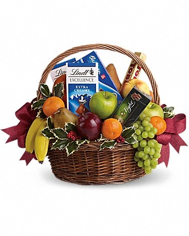 Fruits and Sweets Christmas Basket Gift Basket