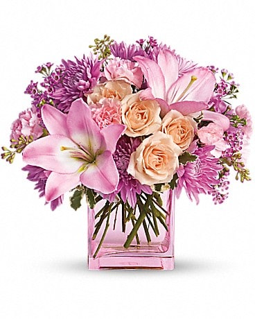 Teleflora's Possibly Pink Flower Arrangement