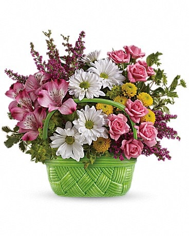 Teleflora's Basket Of Beauty Bouquet Flower Arrangement