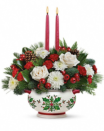 Teleflora's Holly Days Centerpiece Bouquet