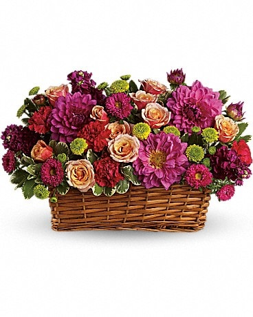 Burst of Beauty Basket Basket Arrangement