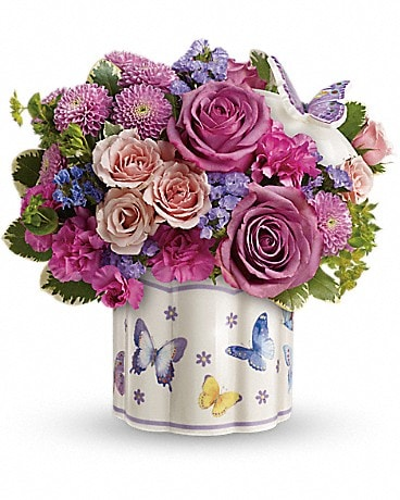 Teleflora's Field Of Butterflies Bouquet Bouquet