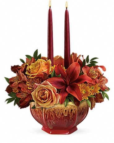 Teleflora's Bounty Of Beauty Centerpiece Flower Arrangement