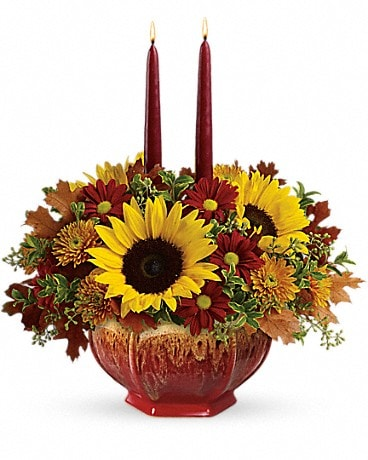 Teleflora's Thanksgiving Garden Centerpiece Flower Arrangement