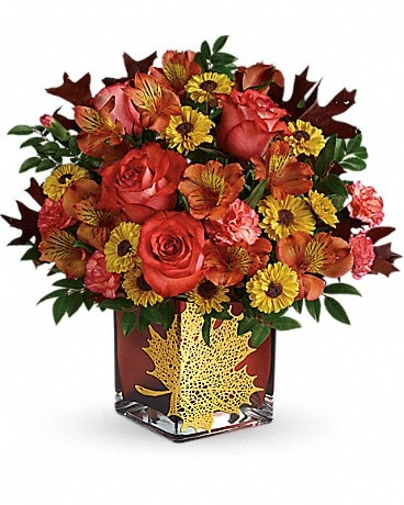 Thanksgiving flowers delivery hot springs ar norman florist telefloras roses and maples bouquet mightylinksfo