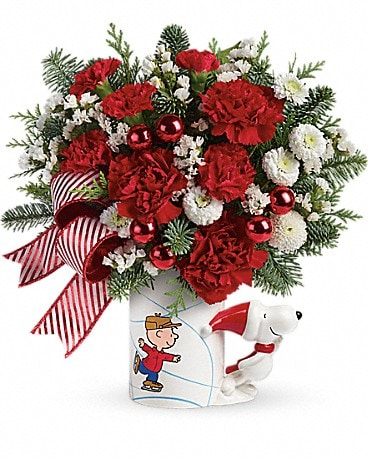 PEANUTS® Christmas Mug by Teleflora Bouquet