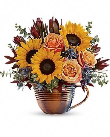 Teleflora's Golden Gratitude Bouquet Bouquet