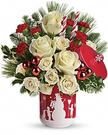 Teleflora's Falling Snow Bouquet Bouquet