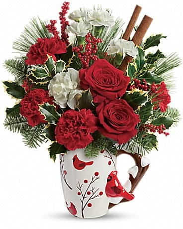 Send a Hug® Wings Of  Winter by Teleflora Bouquet