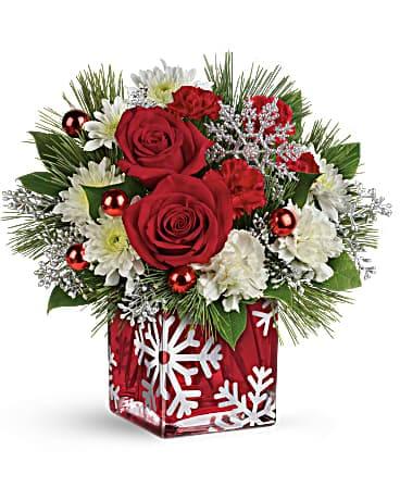 Teleflora's Silver Christmas Bouquet Bouquet