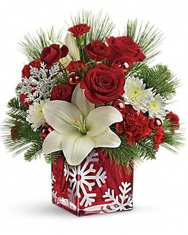 Teleflora's Snowflake Wonder Bouquet