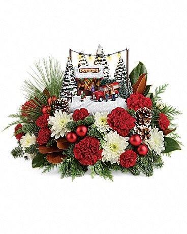 Thomas Kinkade's Family Tree Bouquet Flower Arrangement
