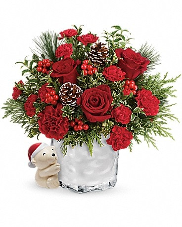 Send a Hug® Winter Cuddles by Teleflora Bouquet