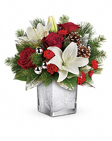 Teleflora's Frosted Forest Bouquet Bouquet
