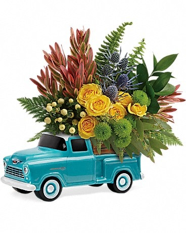 Timeless Chevy Pickup by Teleflora Bouquet