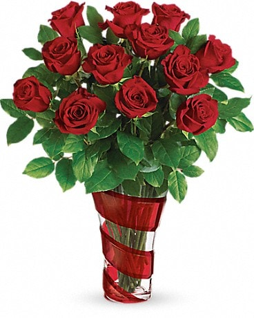 Teleflora's Dancing In Roses Bouquet