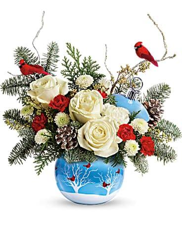 Teleflora S Winter Flock Bouquet In Corona Ca Corona Rose Flowers Gifts