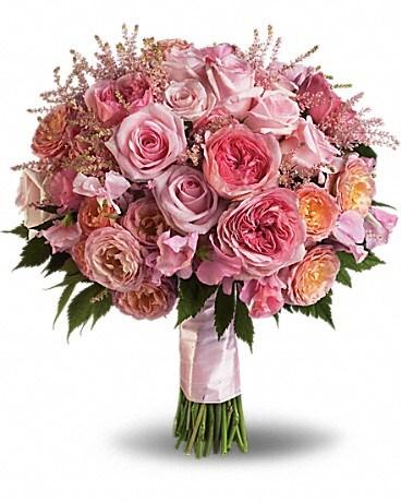 Pink Rose Garden Bouquet Bouquet