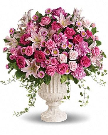 Passionate Pink Garden Arrangement Flower Arrangement
