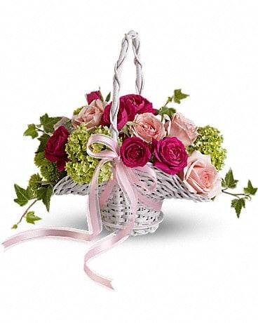 Flower Girl's Dream Basket Basket Arrangement