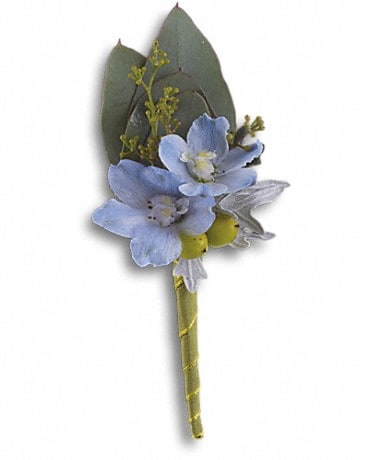 Hero's Blue Boutonniere Boutonniere