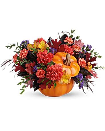 Teleflora's Hauntingly Pretty Pumpkin Bouquet Bouquet