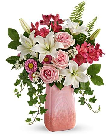 环亚真人游戏 Pink n' Peach Paradise Bouquet Bouquet