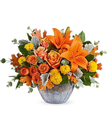Teleflora's Golden Bounty Centerpiece