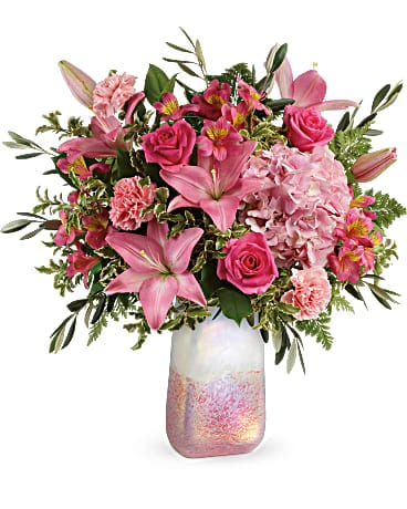 Teleflora's Blushing Gemstone Bouquet