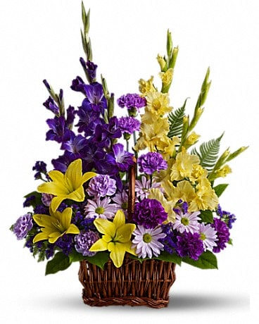 Basket of Memories Basket Arrangement