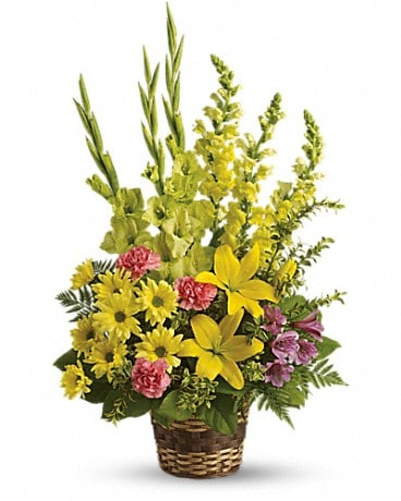 Vivid Recollections Basket Arrangement