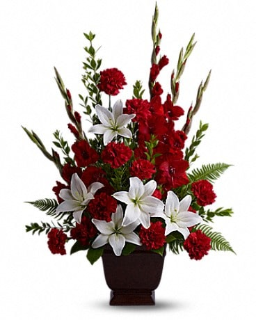 Teleflora's Tender Tribute Flower Arrangement