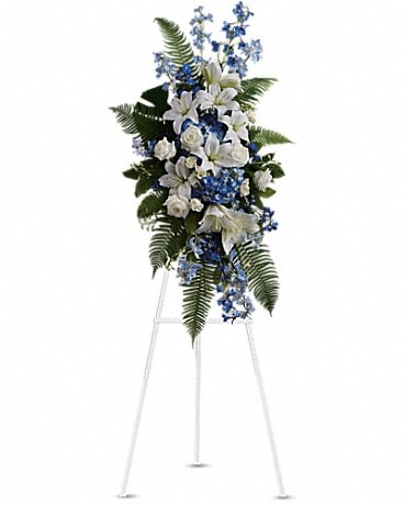 Ocean Breeze Spray Sympathy Arrangement
