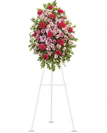 Pink Tribute Spray Sympathy Arrangement