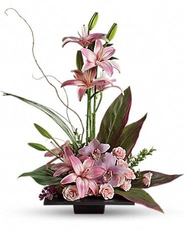 Imagination Blooms with Cymbidium Orchids Flower Arrangement