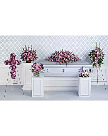 Quick view Teleflora's Lavender Tribute Collection Sympathy Arrangement. New Flower Arrangement by Bakersfield ...