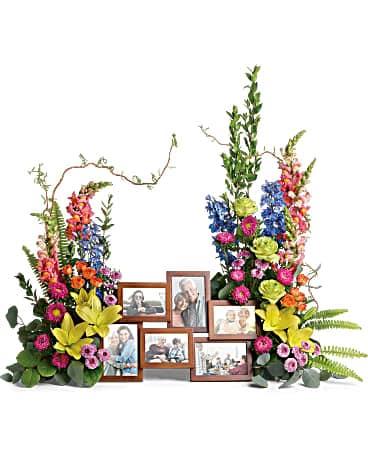 Loving Farewell Photo Tribute Bouquet