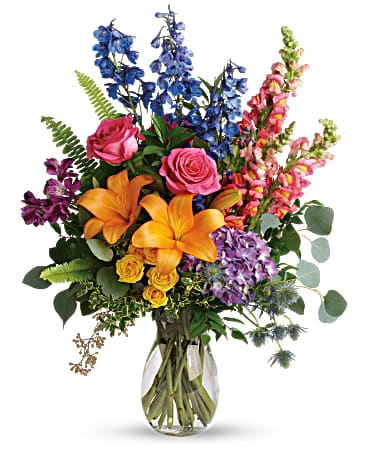 Colors Of The Rainbow Bouquet In Wyomissing Pa Acacia Flower Gift Shop Inc