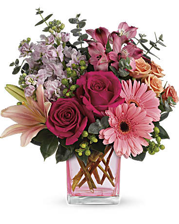 Teleflora's Painterly Pink Bouquet Bouquet