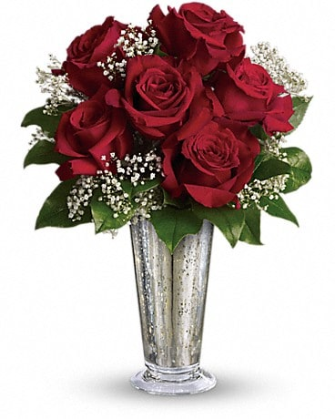 Teleflora S Kiss Of The Rose In Wyomissing Pa Acacia Flower Gift Shop Inc