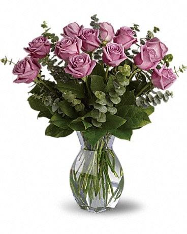 Lavender Wishes - Dozen Premium Lavender Roses Bouquet