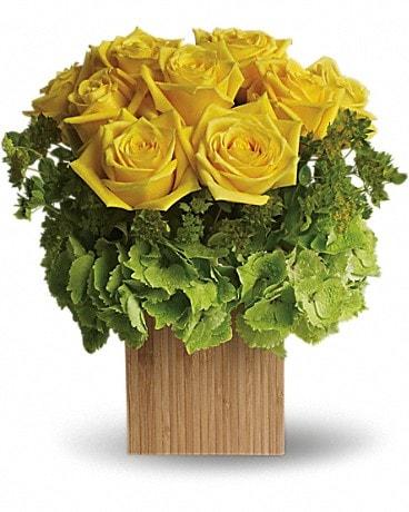 Teleflora's Box of Sunshine Flower Arrangement