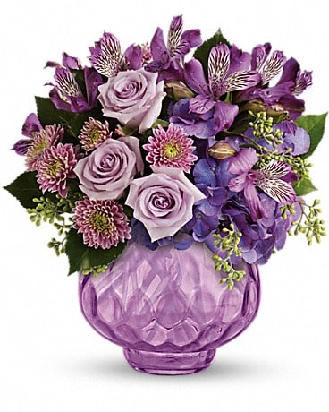 Teleflora's Lush and Lavender with Roses Bouquet